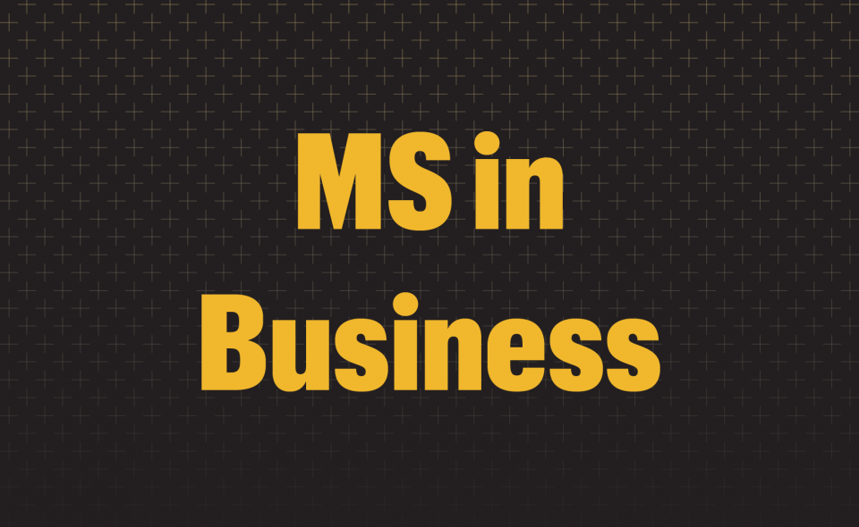 Graphic: MS in Business