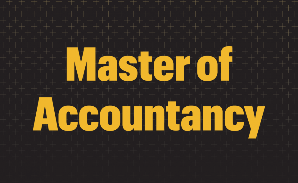 Graphic: Master of Accountancy