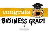 Graphic: Congrats Business Grad