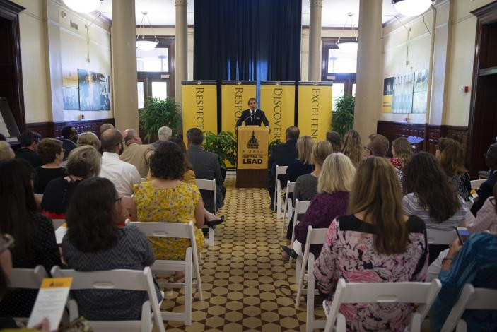 Image: Richard Miller, Mizzou: Our Time to Lead campaign cabinet tri-chair, announced that Mizzou received $200 million in total gifts