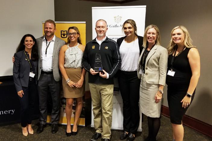 Image: E. & J. Gallo Winery representatives with Mizzou students and faculty 2018
