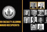 Graphic: Composite graphic of all 2019 Faculty Alumni Award recipients.