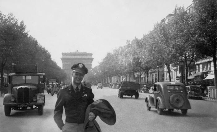 Image: Bob Trulaske in Paris during WWII.